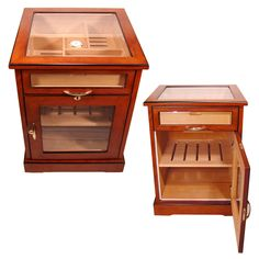 Top view of coffee table humidor This humidor holds 400 cigars and