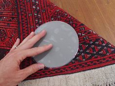 Sticky Discs Non-Slip Rug Pads For Rugs On FLOOR Anti-Slip. 4 Pack. Designed For RUG On Floor Anti-Slip. Limits SMALL Rugs/Exercise/Door Mats From Moving On Floors. BRAND NEW! By Carpet Anchor