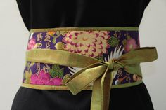LUXE lime green orange  Dupioni silk   Purple by MyDivineBoutique, $45.00