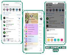 RC YOWhatsApp v7.90 IOS Edition Latest Version - Fibman Software - Fibman Software   Premium Store Android O, Android App Design, Whatsapp Theme, O Emoji, Whatsapp Apk, Themes App, New Emojis, Navigation Bar, Instagram Design