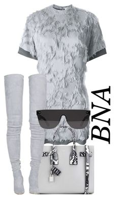 """""""BNA"""" by deborahsauveur ❤ liked on Polyvore featuring Carven, Yves Saint Laurent, Balmain and RetroSuperFuture"""