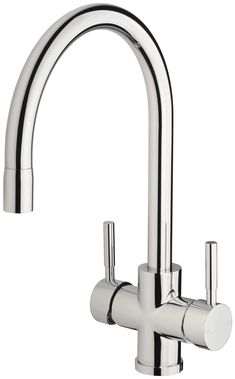 Vivid Filtered Sink Mixer 220mm Gooseneck Kitchen Taps, Solid Brass, Mixer, Sink, Cleaning, Pure Products, Phoenix, Kitchen Faucets, Sink Tops