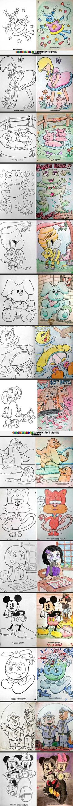 Pinterest : @MazLyons Coloring Book Corruptions, Part II