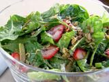 Strawberry Salad Recipe- I made this last night and it was so good.  It was refreshing and everyone went back for seconds.  You could add chicken to make it a main course salad.