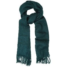 Oasis Boucle Fringed Scarf, Mid Green (2.435 RUB) ❤ liked on Polyvore featuring accessories, scarves, green scarves, lightweight scarves, fringe scarves, green shawl and fringed shawls