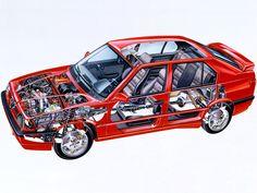 1991-1992 Alfa Romeo 33 S 16V Quadrifoglio Verde Permanent 4 (907) - Illustration unattributed