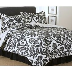 Both like the black & white bedding