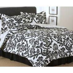 Both like the black & white bedding
