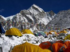 Mount Everest Base Camps are traditionally used by mountain climbers