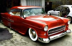 Red 1955 Chevrolet Hot Rod