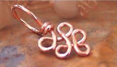 Elegant Copper Swirls Stitch Marker  Sized and by spindlecatstudio, $4.85