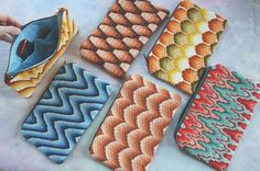 Bargello Needlepoint Clutch Bags