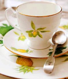 Caribbean Garden bone china coffee cup and saucer