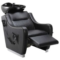 Beauty Salon Shampoo Station Backwash Unit With Electrical Footrest - Callisto