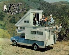 Truck Camper with Upper Deck
