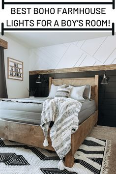 Best Boho farmhouse lights for a boy's room Perfect farmhouse lamps for a boys room! Lamps plus lamps. Home Bedroom, Kids Bedroom, Rustic Teen Bedroom, Boy Bedroom Designs, Teen Guy Bedroom, Preteen Boys Bedroom, Teen Boy Bedding, Boys Room Design, Bohemian Bedrooms