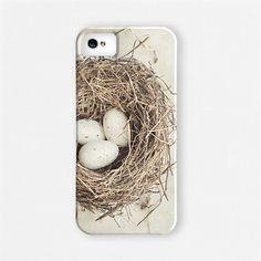 Bird's Nest iPhone 5 Case, Bird's Nest iPhone 4 Case, Nature, Nest, Shabby Chic iPhone Case for Women, Beige, Cream, Eggs.. $39.00, via Etsy.
