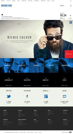 Web Design - Corporate website responsive by Andrea Abascià, via Behance - lots of squares