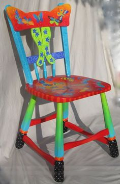 Original Handpainted Furniture In Bright Bold Colors And Whimsical Designs