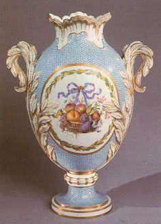VERSAILLES - A porcelain vase decorated with Myrtle leaves; Sèvres. 1777