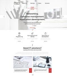 Information Technology WordPress Website Template Simple Website Templates, Professional Website Templates, Web Themes, Website Themes, Wordpress Template, Wordpress Theme, Identity Development, Responsive Web, Information Technology
