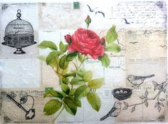 Rice Paper for Decoupage Decopatch Scrapbooking Sheet Craft Vintage Beauty Rose