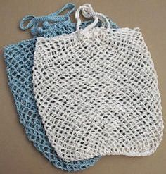Free pattern to make a crochet net bag