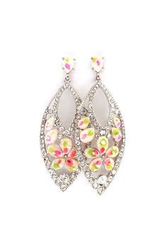 Marquise Daphne Earrings in Orchid on Emma Stine Limited