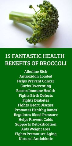 15 FANTASTIC HEALTH BENEFITS OF BROCCOLI. Learn more about potent alkaline healing sources such as Kangen Water; the hydrogen rich, antioxidant loaded, ionized water that neutralizes free radicals tha