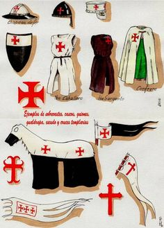 vestuario de caballeros y caballos templarios