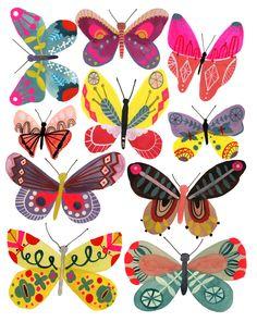 Butterflies, Girl, print of my original painting diy tattoo - diy tattoo images - diy tattoo ideas - Butterfly Illustration, Butterfly Drawing, Butterfly Tattoo Designs, Illustration Art, Butterfly Painting, Mundo Hippie, Insect Art, Guache, Wow Art