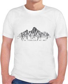 Terrible Art T-shirt Kendin Tasarla - Erkek Bisiklet Yaka Tişört