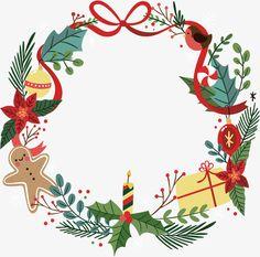 Christmas Frames, Christmas Art, Christmas Holidays, Christmas Wreaths, Christmas Decorations, Christmas Templates, Christmas Clipart, Christmas Printables, Illustration Noel
