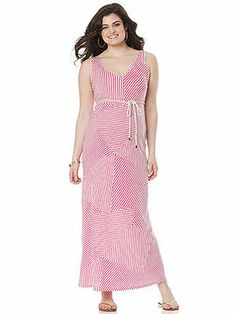 Motherhood Maternity's Sleeveless Belted Maternity Maxi Dress is lightweight and perfect for a day in the sun. ($40)