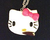Adults Only: Hello Kitty Smoking Weed/ Polymer Clay Charm on 18inch Chain