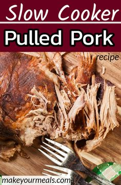 Slow Cooker Pulled Pork How to make the BEST pulled pork with a dry rub that makes your meat turn out moist and delicious each and every time. - The absolute BEST Slow Cooker Pulled Pork recipe. Fall apart fork tender with great flavor! Pulled Pork Recipe Slow Cooker, Pulled Pork Recipes, Slow Cooker Recipes, Easy Crockpot Pulled Pork, Slow Cooker Pork Roast, Pork But Recipe, Boston Butt Crockpot Recipe, Bbq Pulled Pork Crockpot, Stuffed Peppers