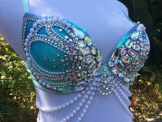 Crystal Shell Mermaid Bra  Rave Bra  Rave Outfit  Made to
