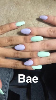 Matte Tiffany blue acrylics . Stiletto Light purple acrylics. Snapchat