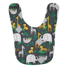 Baby Gifts Animal Kingdom in the Dark Bib - toddler youngster infant child kid gift idea design diy