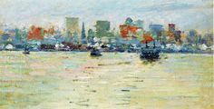 Theodore Robinson (American, [Old Lyme Colony, Impressionism] The Ferry, Theodore Robinson, Old Lyme, Impressionism, Canvas Art Prints, Hand Painted, Landscape, History, Gallery, Artist