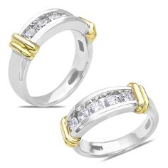 Ebay NissoniJewelry presents - Men's 1CT Diamond Wedding Band in 14k Two Tone Gold with a Cage Back    Model Number:GRV5549K-X423    http://www.ebay.com/itm/Men-s-1CT-Diamond-Wedding-Band-in-14k-Two-Tone-Gold-with-a-Cage-Back/321612109798