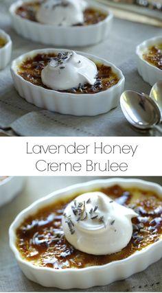 Easy Lavender Honey Creme Brulee Recipe. A wonderful spring time dessert recipe! #CremeBrulee #Lavender #LavenderRecipes #LavenderCremeBrulee