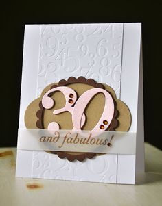 Simply Stamped: Birthday Cards & Tags  A very elegant card by Maile Belles using PTIs Big Birthday Wishes stamp set for the sentiment and lots of other good stuff!