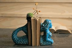 Ceramic Mermaid Bookends....very nice look, a little pricey for me, though....