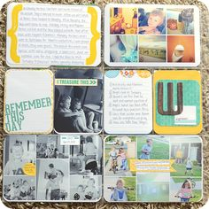 our {project} life: Week 18 {project life} by Amanda  I love how she fits so many photos on a 4x6 card!