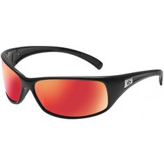 Bolle Recoil Sunglasses - Black - Fire Polarised Lens. The Bolle recoil collection features a strikingly progressive sense of style. Their smooth lines give them a casual feel. Yet their wrap-around design and shatter resistance lenses make them ideal for any activity. So whether you're going hard or laying back, snakes are always the perfect fit. Available now at www.flightstore.co.uk
