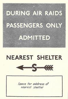 London Transport - Underground station air raid shelters notice, 1939 by mikeyashworth,
