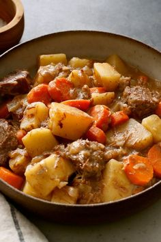 NYT Cooking: This classic stick-to-your-ribs stew is the ideal project for a chilly weekend. Beef, onion, carrots, potatoes and red wine come together in cozy harmony. If you are feeding a crowd, good news: It doubles (or triples) beautifully.