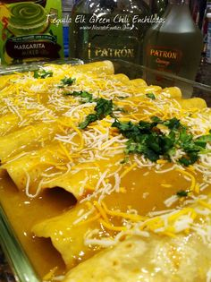 Tequila Elk Green Chili Enchiladas Ground Elk Green Chili Enchiladas with Patron – Easy Elk Recipes Elk Meat Recipes, Deer Recipes, Wild Game Recipes, Venison Recipes, Mexican Food Recipes, Cooking Recipes, Healthy Recipes, Cooking Game, Healthy Food