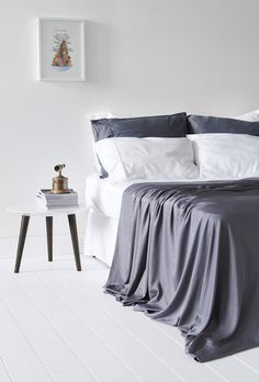 Bamboo Bondi Sheet Set - Grey 100% organic bamboo bedding